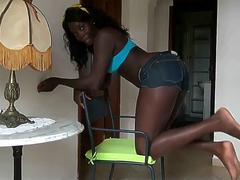 Nice Ebony Ass Creampie