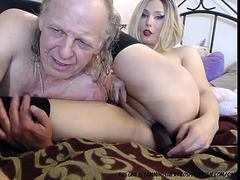 Transexual With Her Old Man....