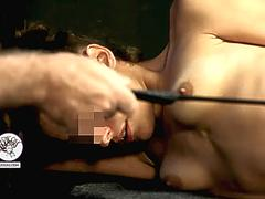 Little bitch beaten with riding crop