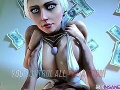 Big boobs 3D babes fucked doggystyle