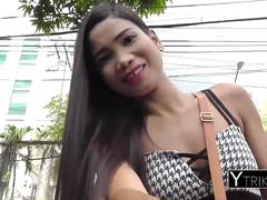 Beautiful FILIPINA young girl's pussy stretched doggystyle by monstercock