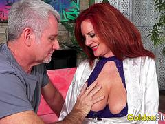 Stunning Mature Redhead Andi James Gets Passionately Plowed