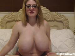 blonde with giant tits babe