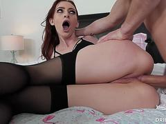 Petite Redhead Anal Lover Maya Kendrick Loves Taking A Stiff Cock In Her Ass