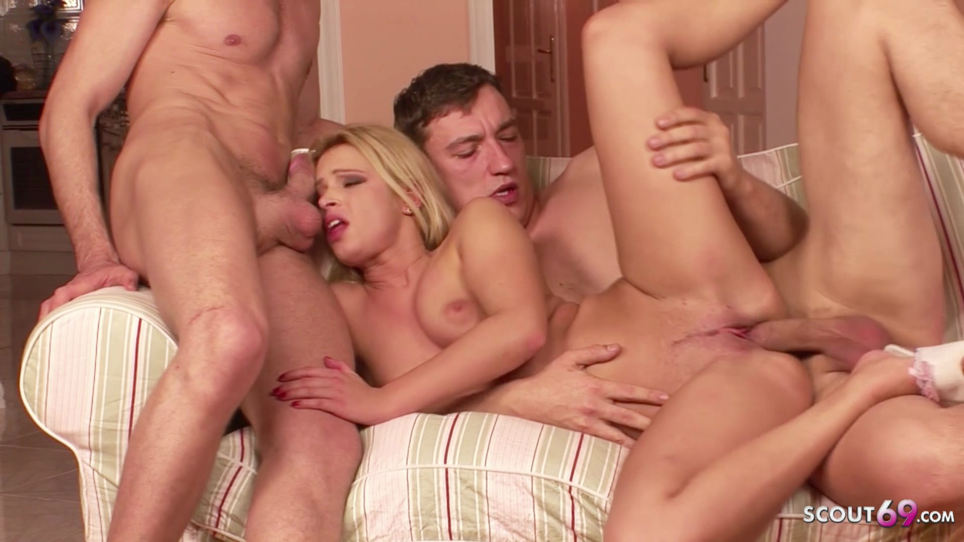 Real Porn Casting Threesome for 18yr old Teen Dominica