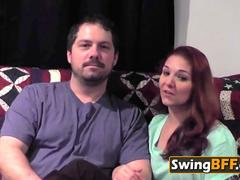 Swinger Married Couple makes full partner swap the first night they joining the house.