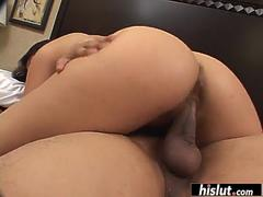 Indian chick plays with a huge cock