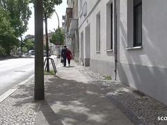 GERMAN SCOUT - ROUGH ANAL FOR SKINNY MILF AT STREET CASTING