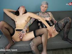 MyDirtyHobby - Wet hot lesbians caught scissoring and fingering