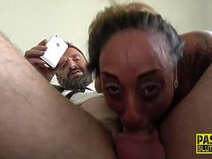 Toying milf submissive
