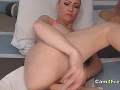 Blonde Babe Toys Both Her Holes