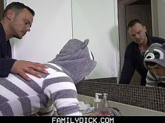 FamilyDick - Stepdad Fucks Virgin Boy Before Bed