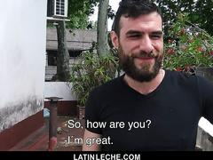 LatinLeche - Bearded Latin Hunk Gets Facefucked By Two Young Studs