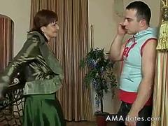 russian mature mom and her boy! amateur! video