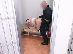 LAW4k. Sofia Lee was caught by policemen and fucked hard in the cage