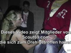 German MILF Bi Jenny Seduce Young Guy to Fuck at Party