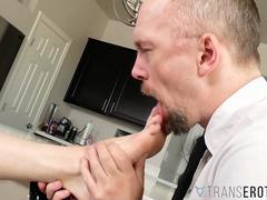 TRANSEROTICA Young TS Jessy Bells Cums After BJ At Doctor