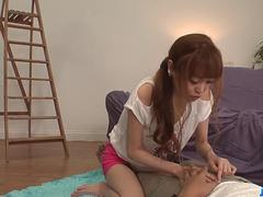 Sexy Mikuru Shiina spreads legs for a sharp dick  - More at javhd.net