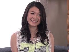 Perfect couch sex for slim and insolent Kyoko Nakajima - More at Japanesemamas.com