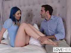Jewelz Blu Footjob For Dads Assistant