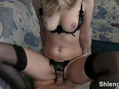 Old mature man fucks young norwegian blonde hooker in stockings