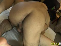 Asian twink rides dick