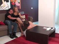 the master and pricness nicole have fun with cuckold loser joschi