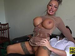 Busty submissive milf