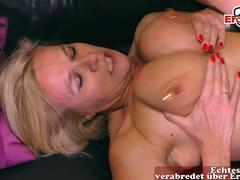 german big natural tits blonde milf with intim piercing