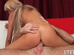 Wang rams tight pie of a dishy russian blonde cutie shelly
