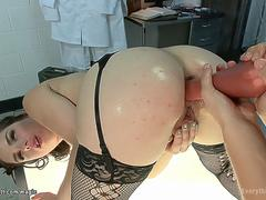 Lesbian nurses rimming and anal toying
