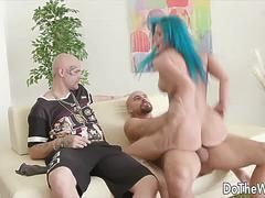 Do The Wife - Shamelessly Riding in Cowgirl While Hubby Watches Compilation
