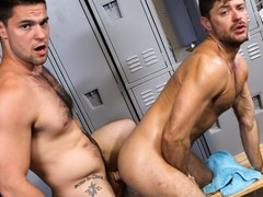 Locker room anal with gay men