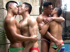 Asian Speedo Foursome