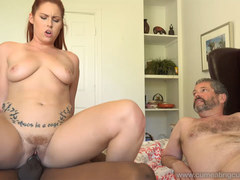 Edyn Blairs Husband Watches Her Get Filled By Black Cock